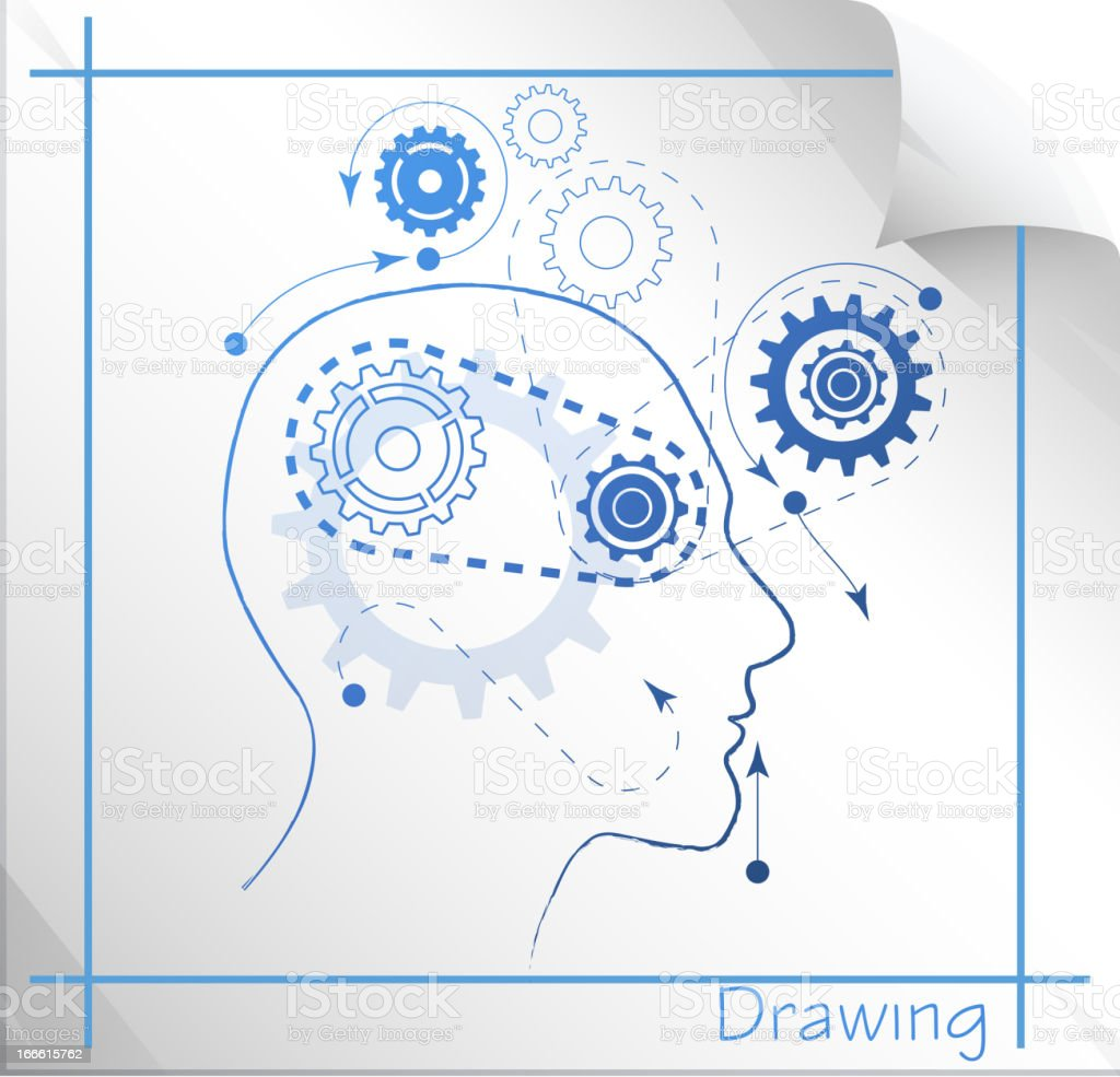Technical Thinking royalty-free stock vector art