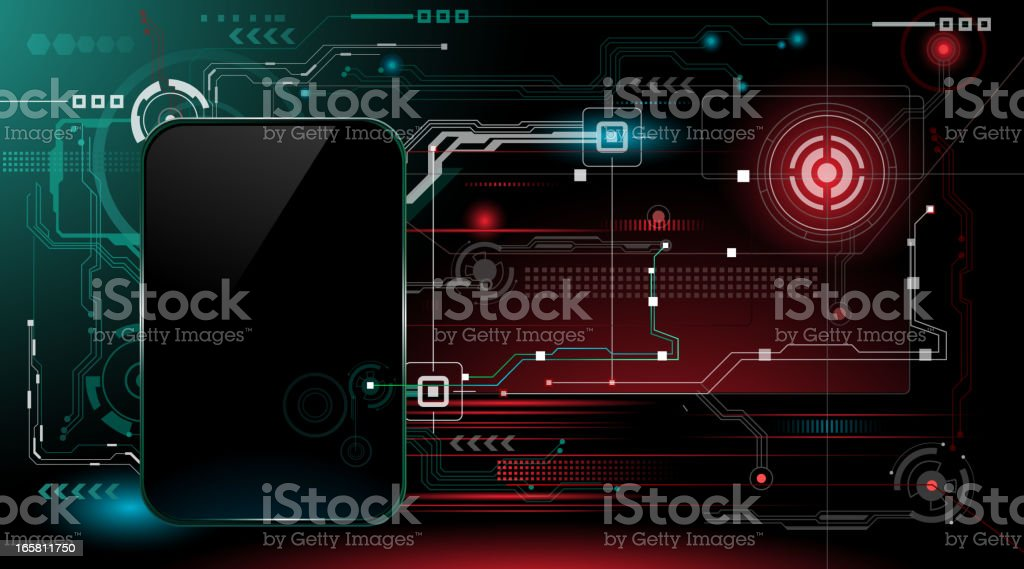 Technically 'Smart'phone vector art illustration