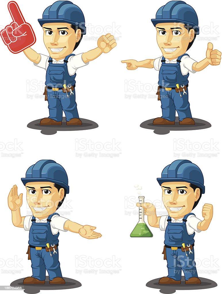 Technician or Repairman Customizable Mascot 13 royalty-free stock vector art