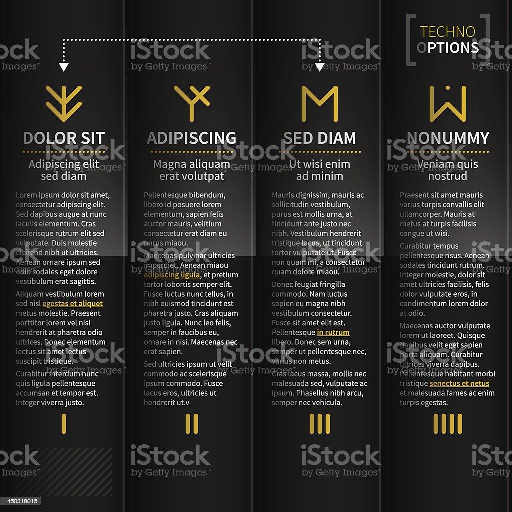 Techno background royalty-free stock vector art