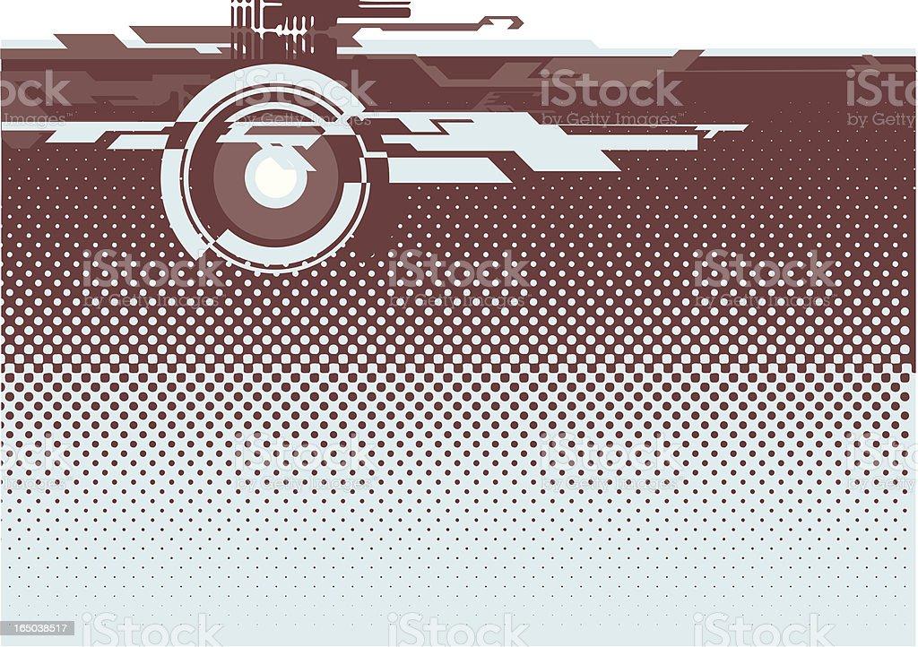 techno dot gain royalty-free stock vector art