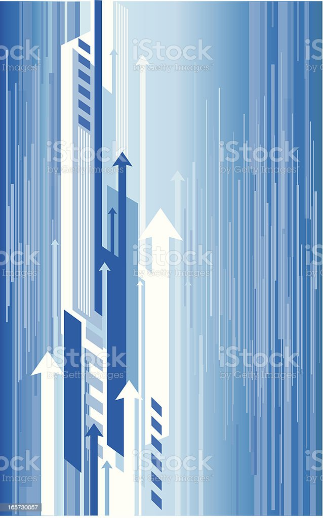 Techno vector arrows background royalty-free stock vector art