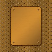 Techno vector illustration. Rusty Metal Background. Brushed Brass, copper surface