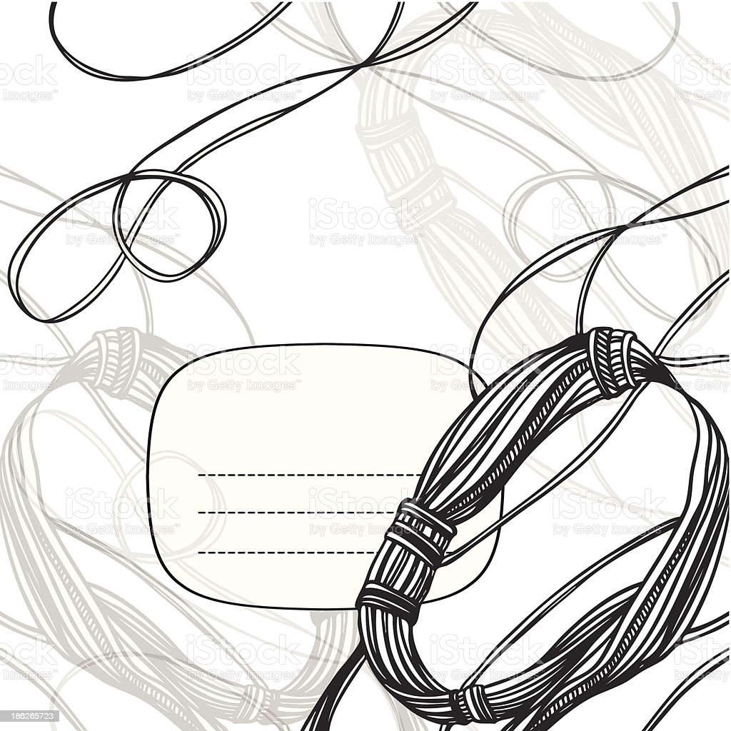 technogenic abstract monochrome frame with wires royalty-free stock vector art