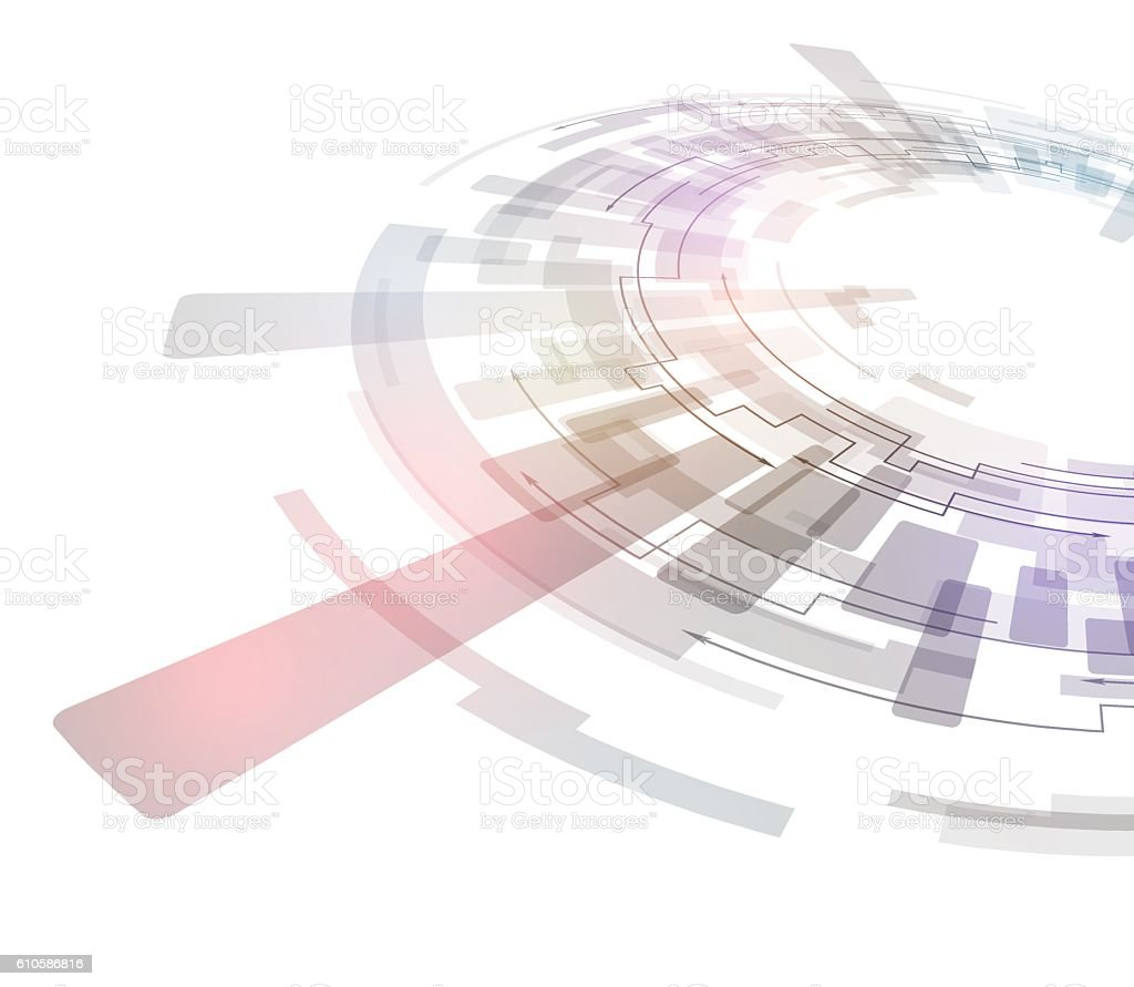 technological abstract image, concentration and rotation vector art illustration