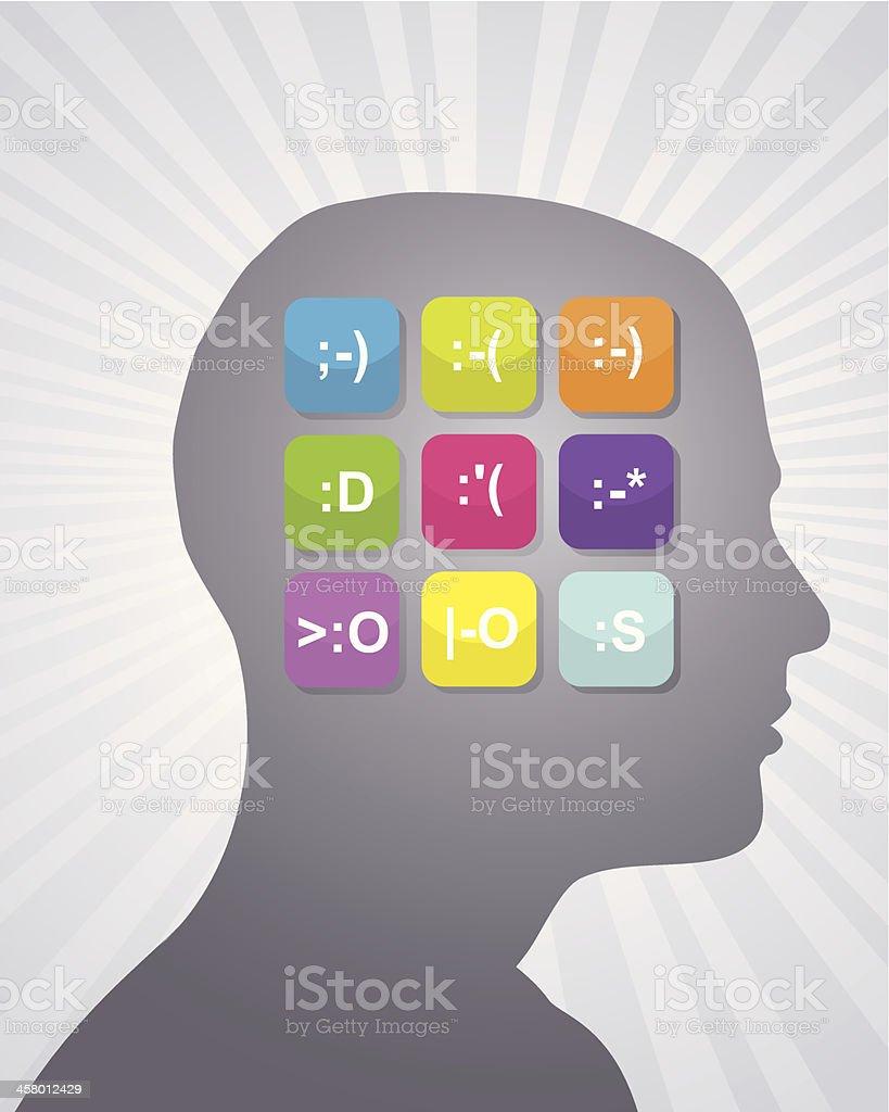 Technological Emotions vector art illustration
