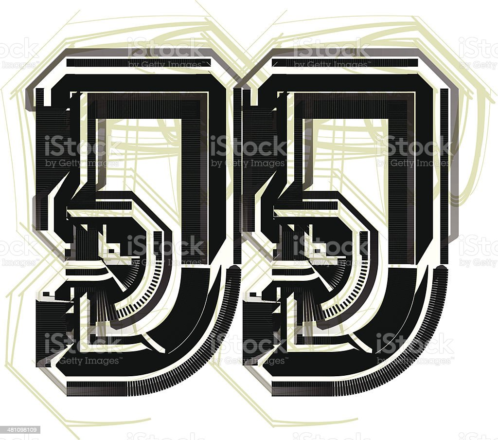 technological font symbol royalty-free stock vector art