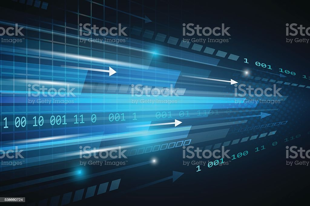 Technological vector abstract background with straight lines. vector art illustration