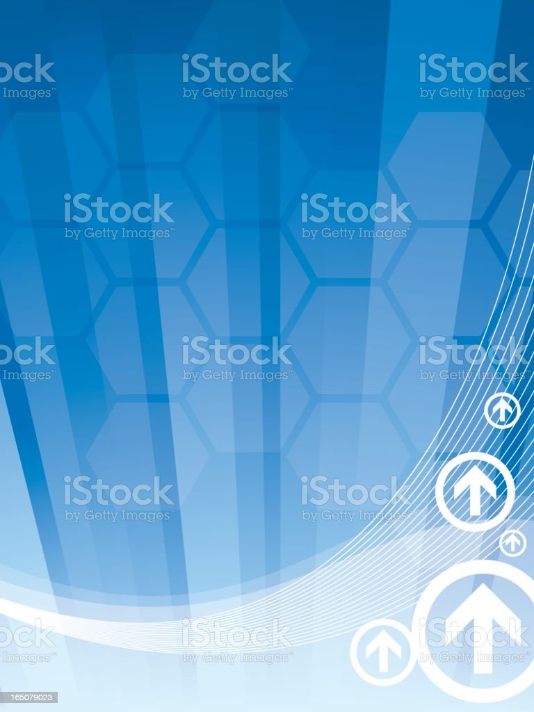Technology And Business Abstract - Vertical royalty-free stock vector art
