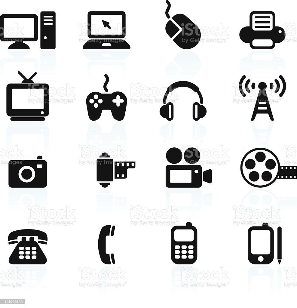 technology and communication design elements vector art illustration