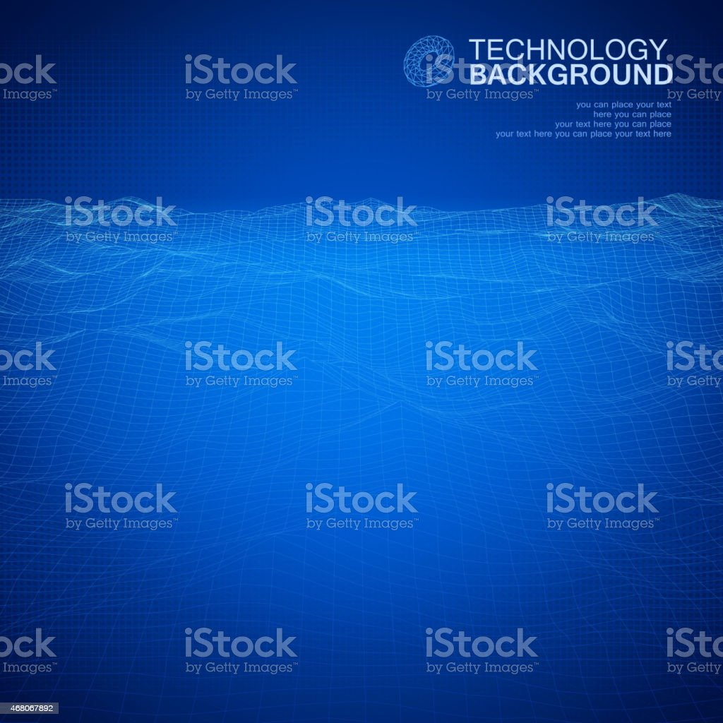 Technology background vector art illustration