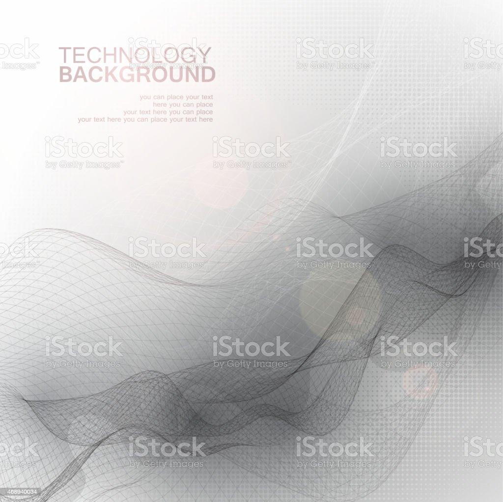 Technology background vector art illustration