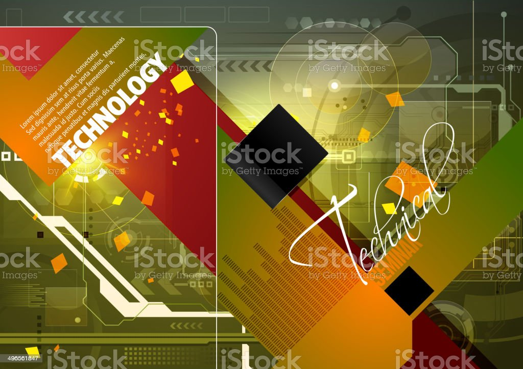 Technology Background with Copy space royalty-free stock vector art