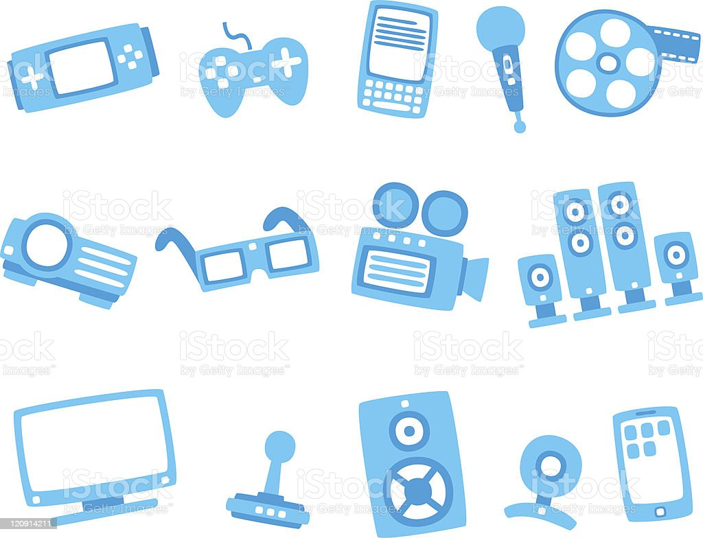 technology blue icon series 2 royalty-free stock vector art