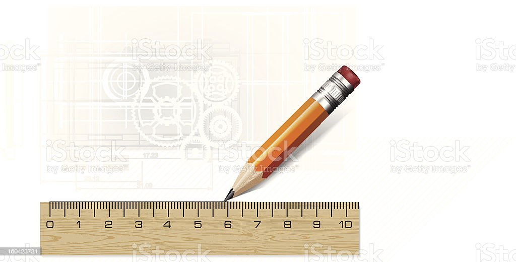 Technology blueprint abstract design royalty-free stock vector art