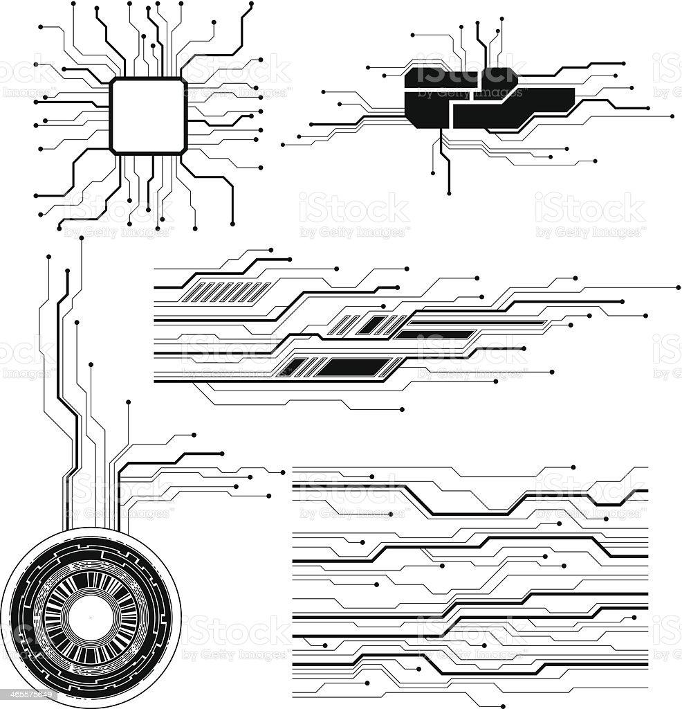 technology design elements royalty-free stock vector art