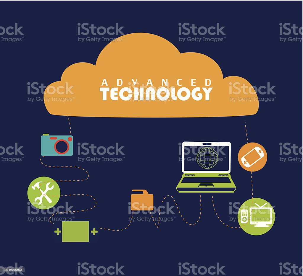 Technology design royalty-free stock vector art