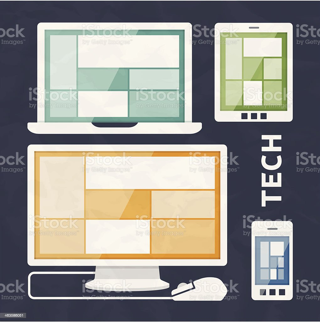 Technology Devices royalty-free stock vector art