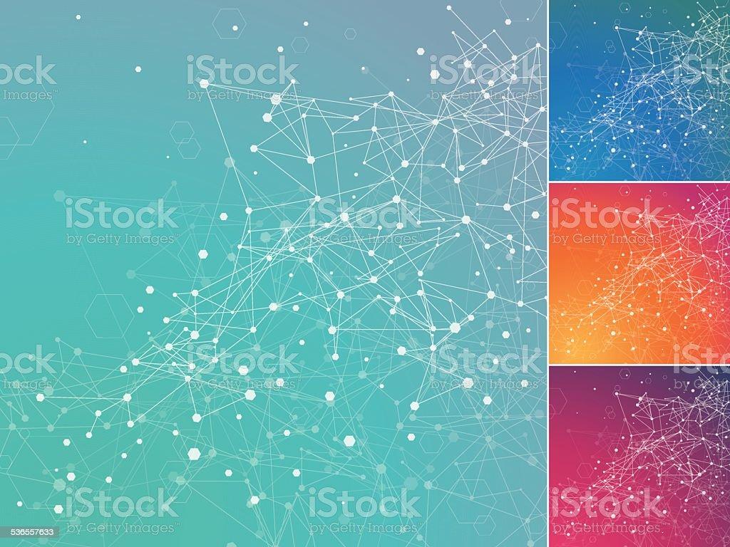 Technology digital network background vector art illustration