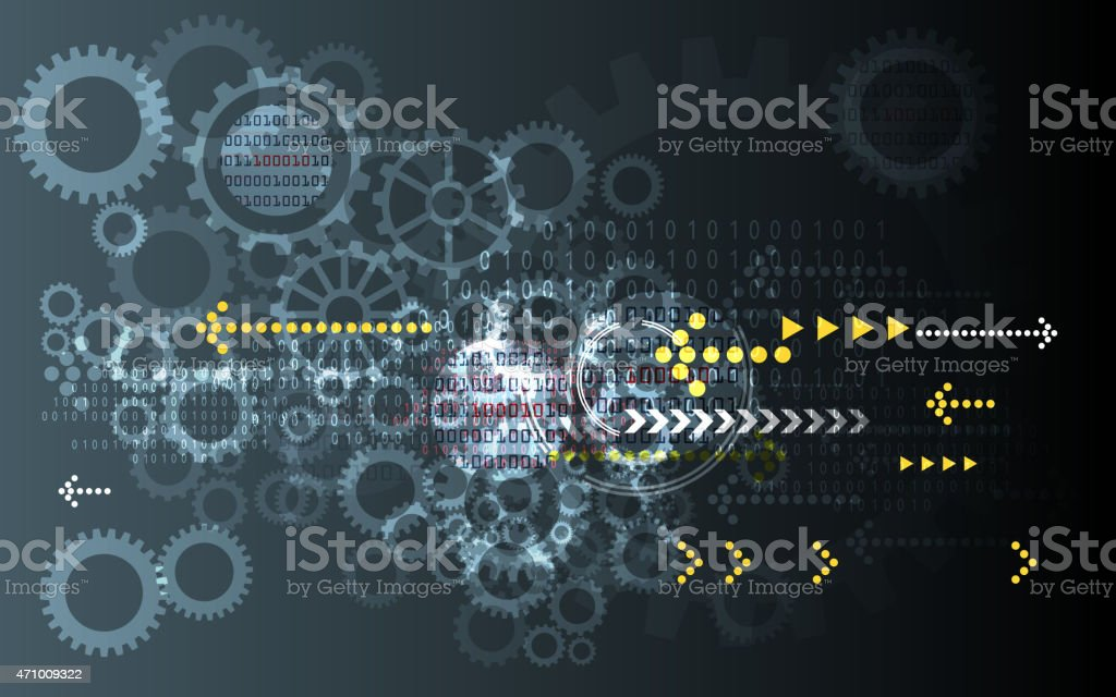 Technology Directions Background vector art illustration