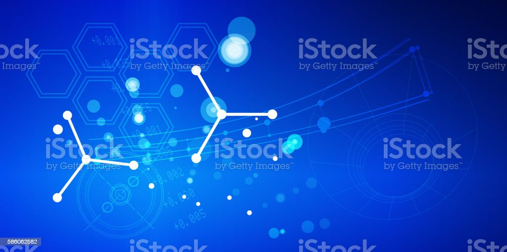 Technology Exploration Abstract vector art illustration