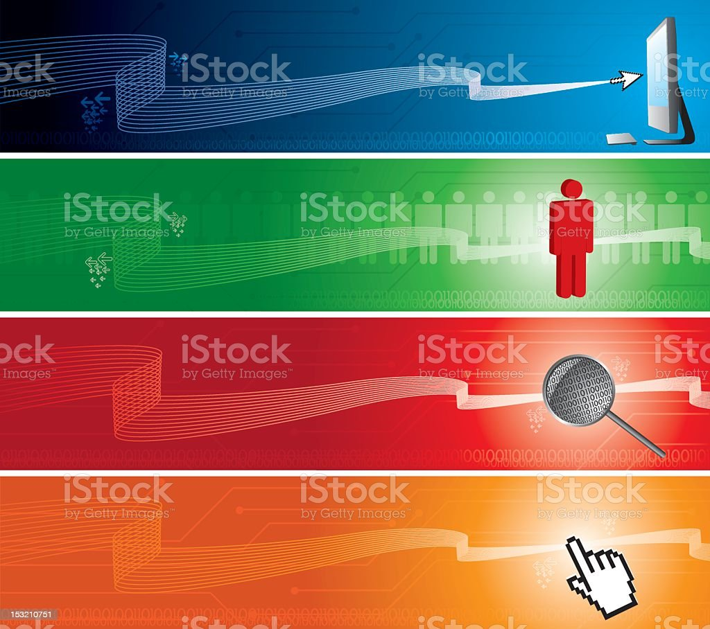 Technology internet banners royalty-free stock vector art
