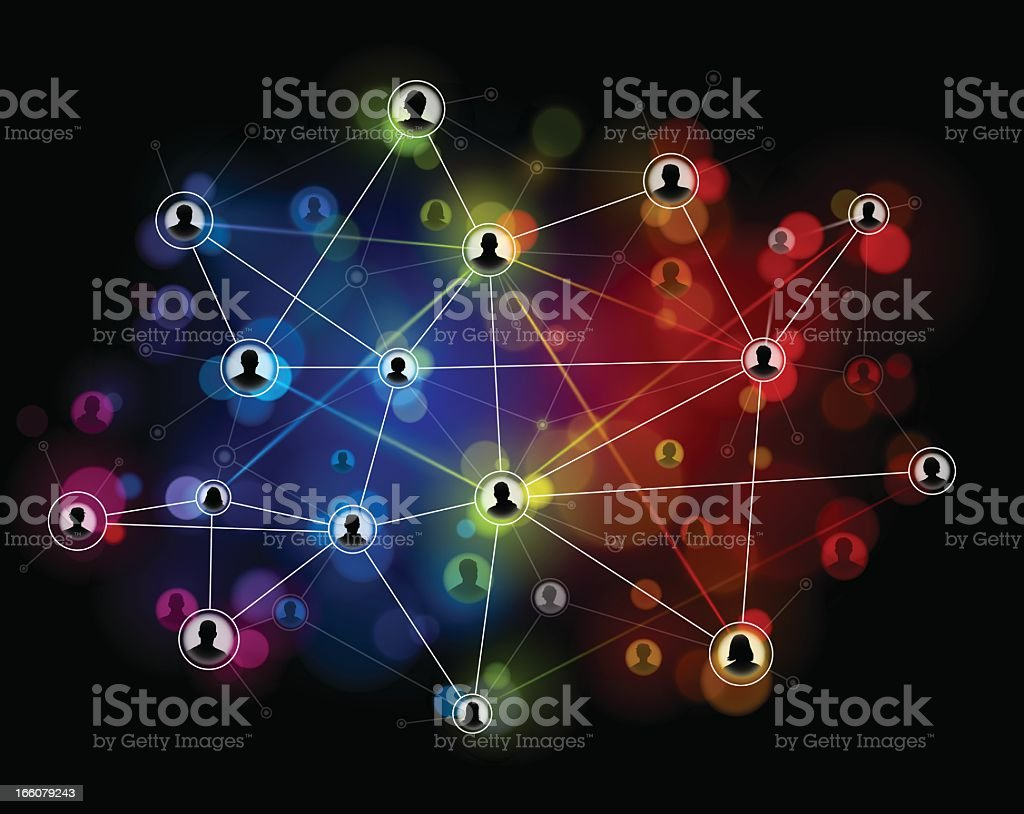 Technology network background vector art illustration