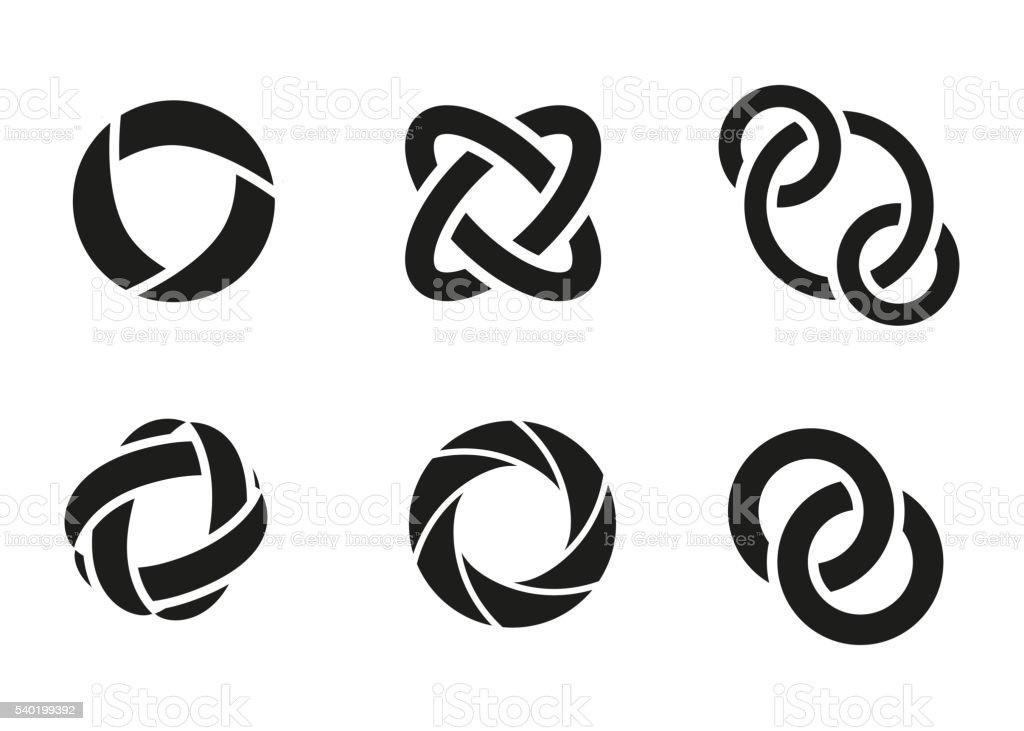 Technology orbit web rings. vector art illustration