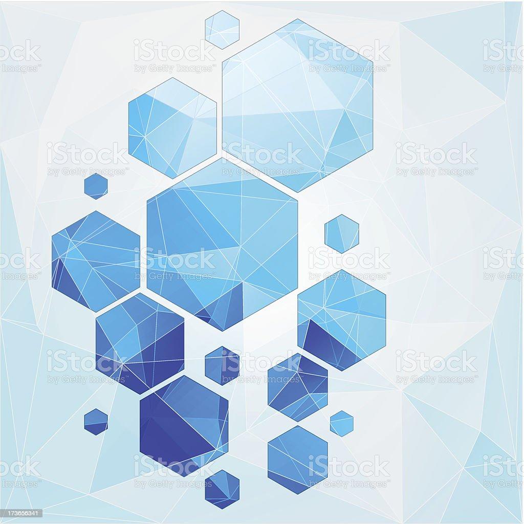 polygonal Fundo abstrato Tecnologia de célula vetor e ilustração royalty-free royalty-free
