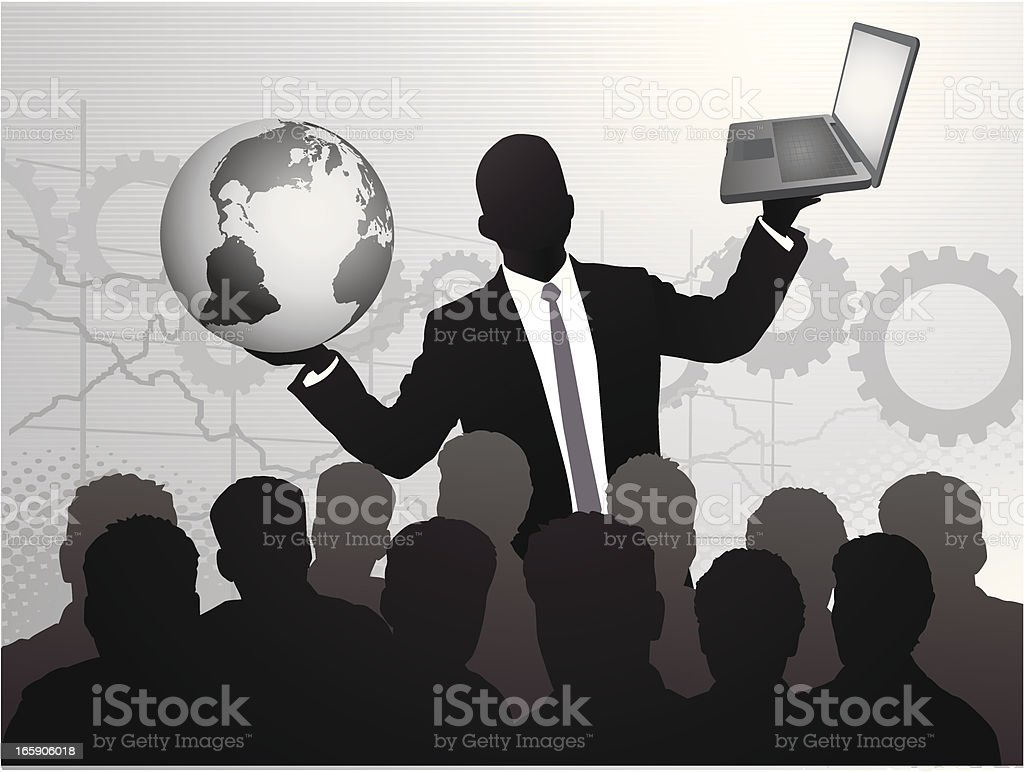 Technology Rules the World royalty-free stock vector art