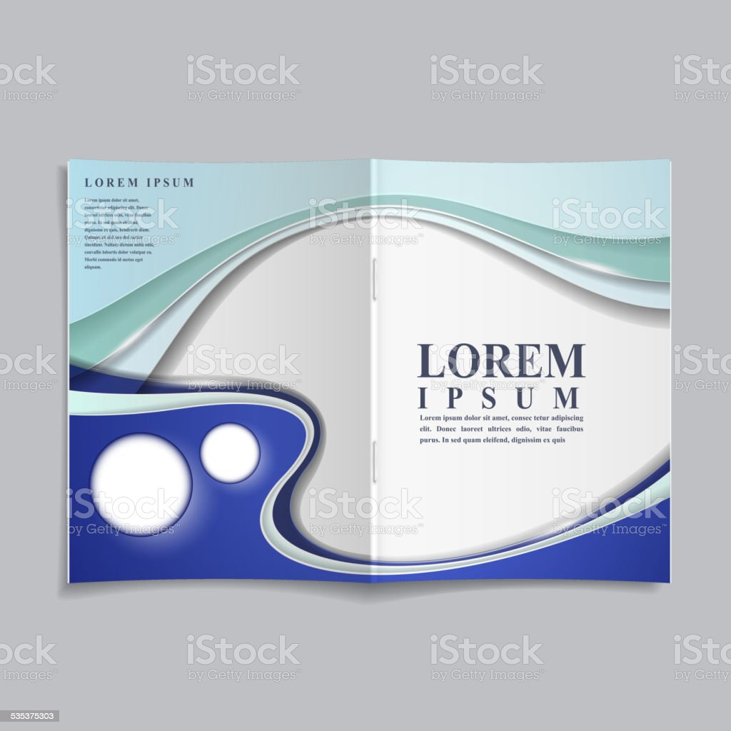 technology style design book cover template vector art illustration