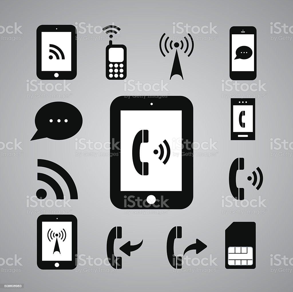 technology symbol vector art illustration