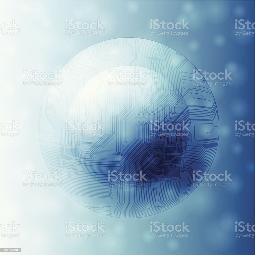 technology theme background royalty-free stock vector art