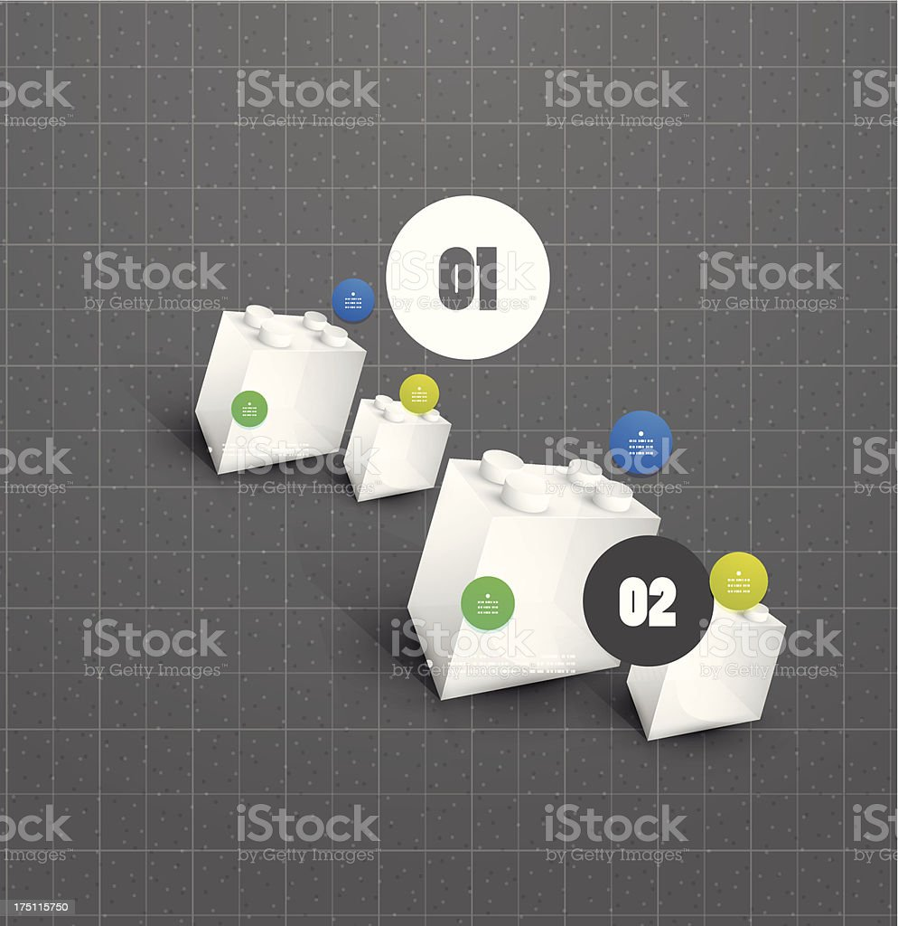 Technology toy block background royalty-free stock vector art