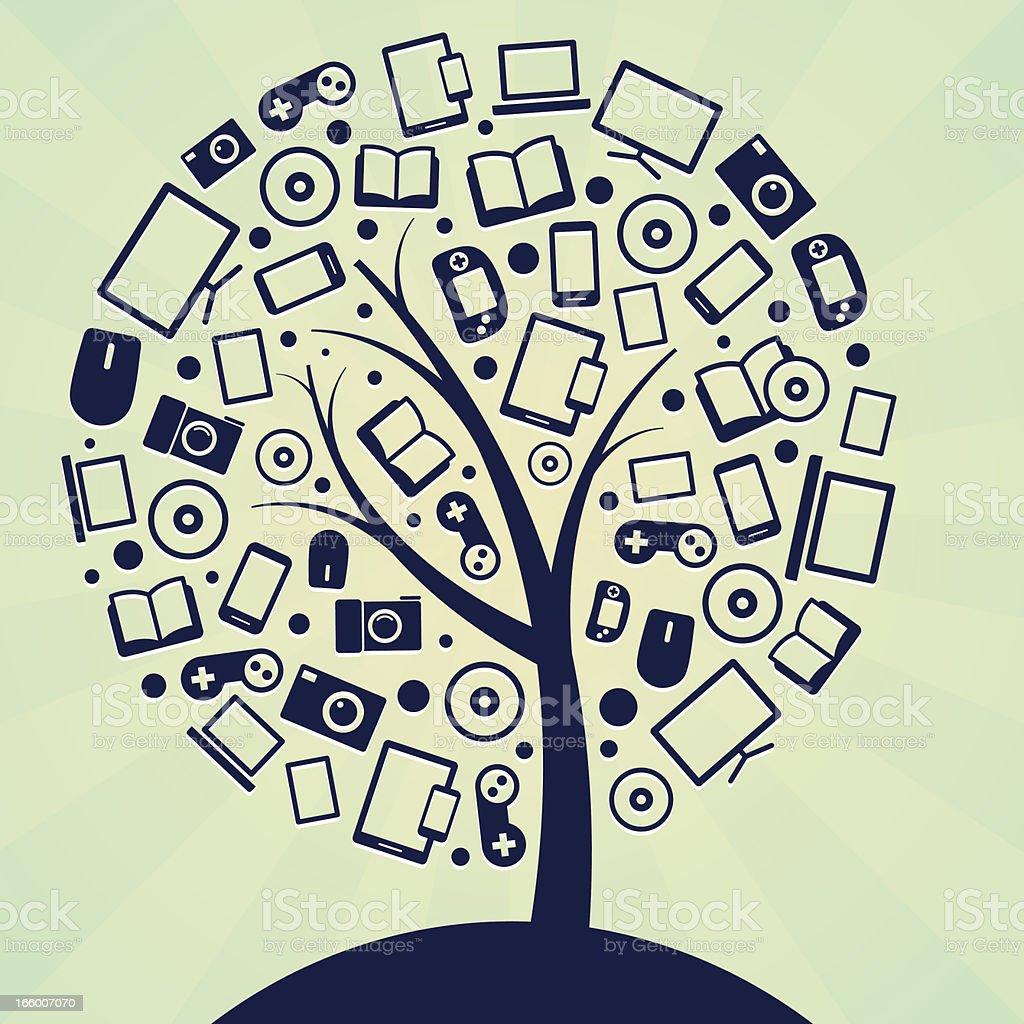 Technology tree royalty-free stock vector art