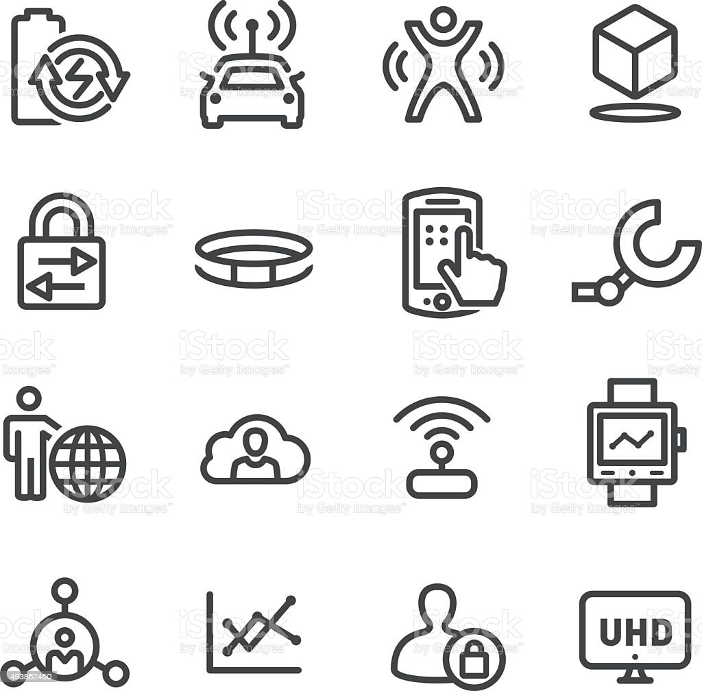 Technology Trends For Business Icons - Line Series vector art illustration