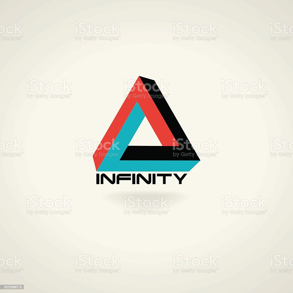 Technology vector abstract triangle infinity symbol. icon vector art illustration