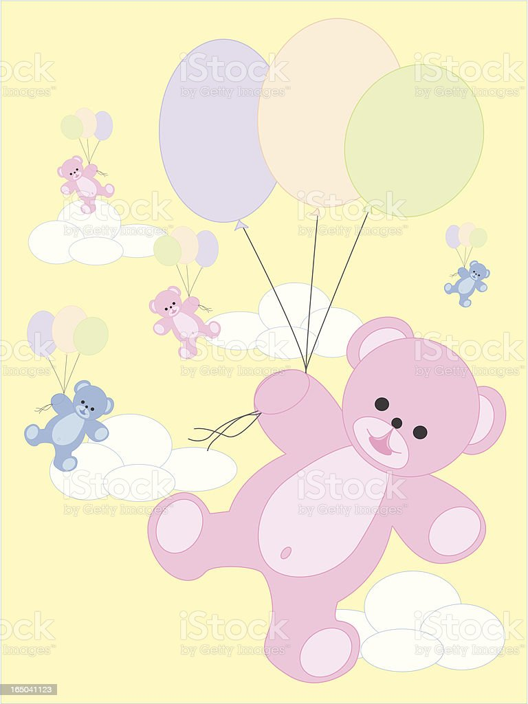 Teddy Ballons royalty-free stock vector art
