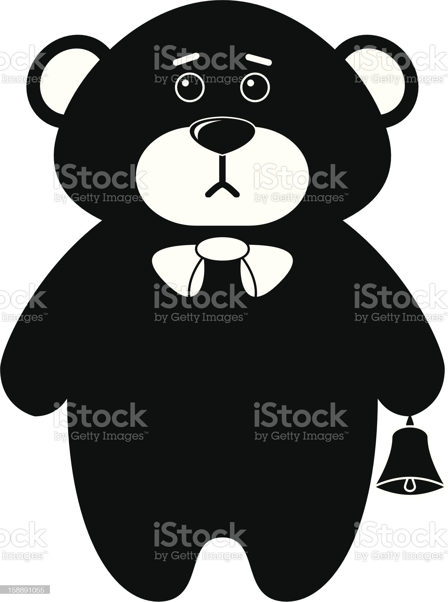 Teddy bear a tilde, silhouette royalty-free stock vector art