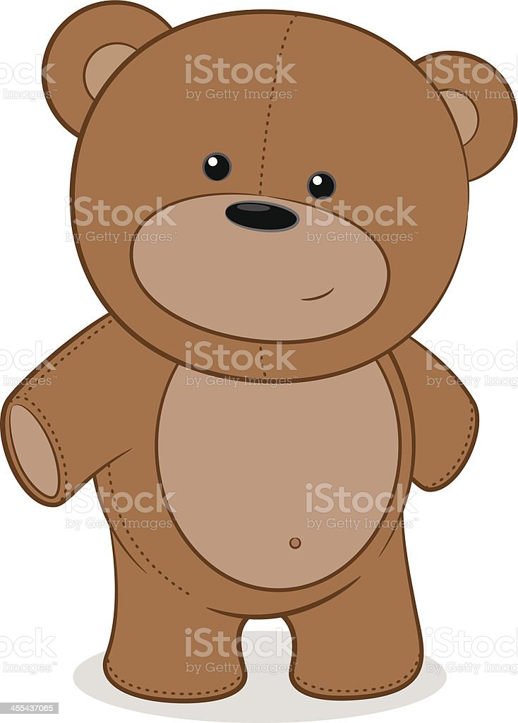 Teddy Bear Cartoon vector art illustration