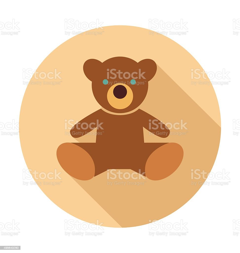 Teddy Bear Colored Vector Illustration vector art illustration