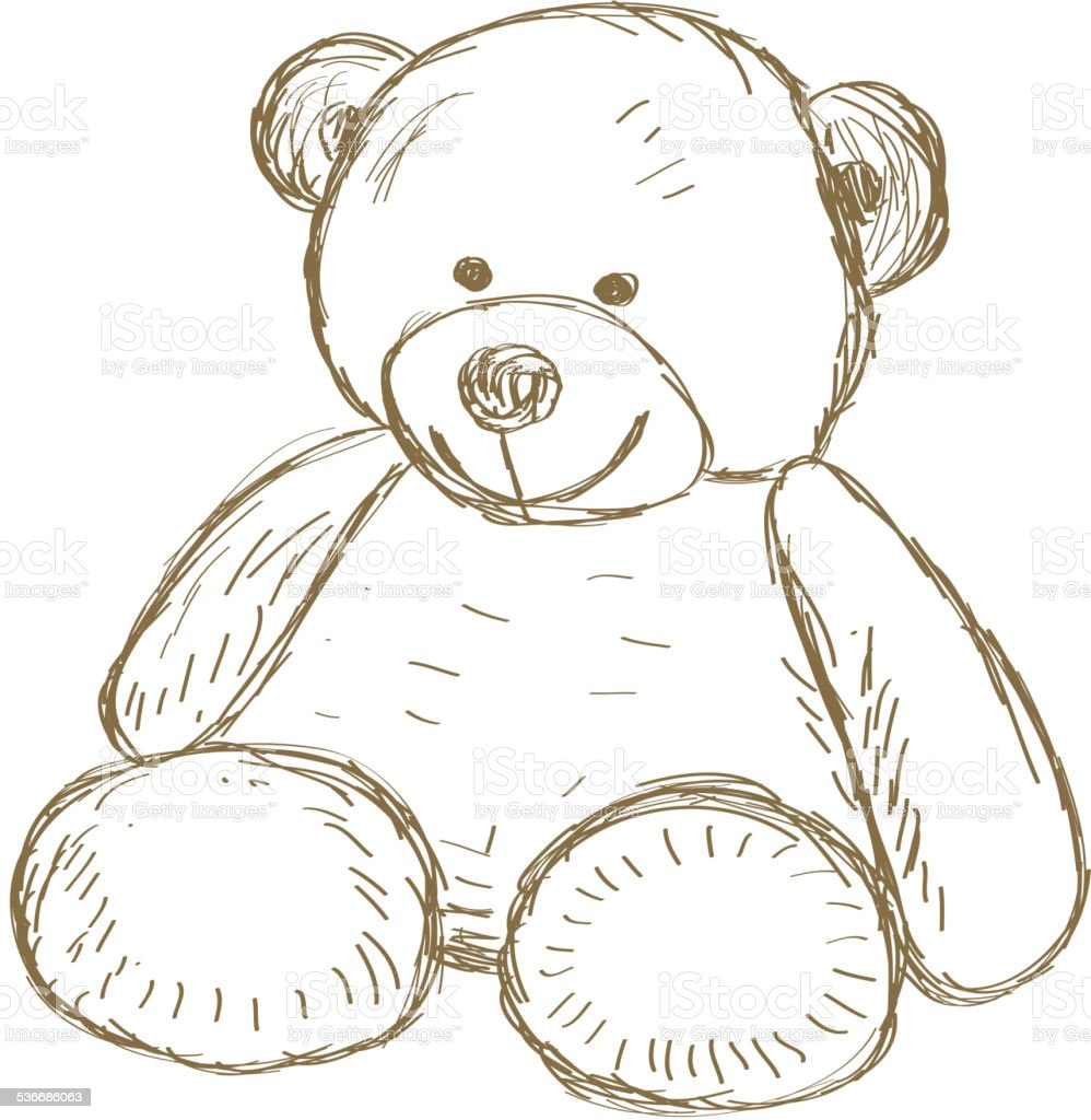 Teddy bear doodle Vector vector art illustration