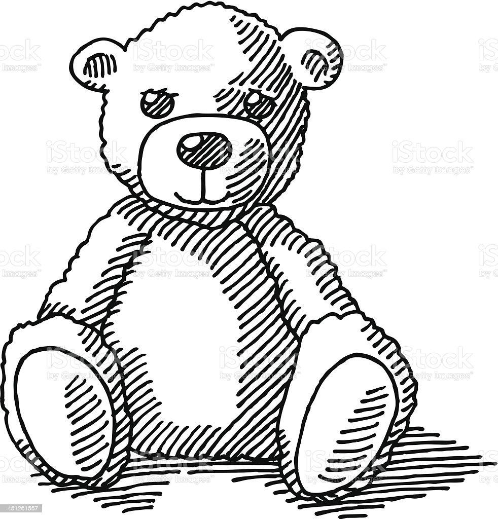 Ours en peluche dessin stock vecteur libres de droits 451261557 istock - Dessin ours en peluche ...