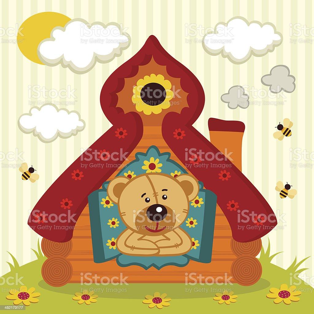 teddy  bear house royalty-free stock vector art