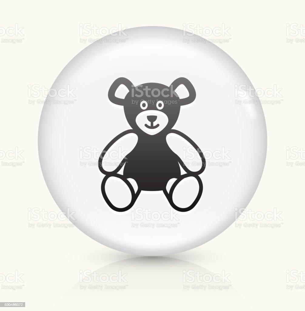 Teddy Bear icon on white round vector button vector art illustration