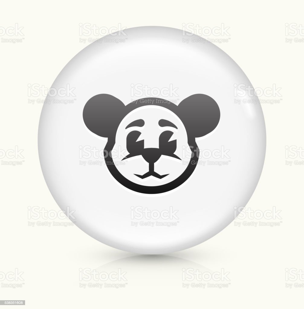 Teddy Bear icon on white round vector button vector art illustration