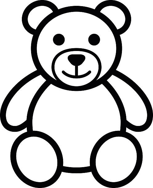 Line Art Bear : Teddy bear clip art vector images illustrations istock
