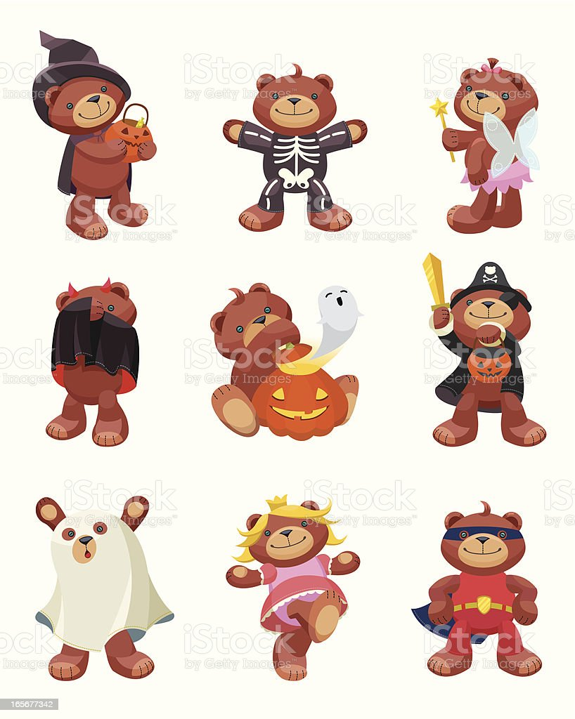 Teddy Bear Series: Halloween. royalty-free stock vector art