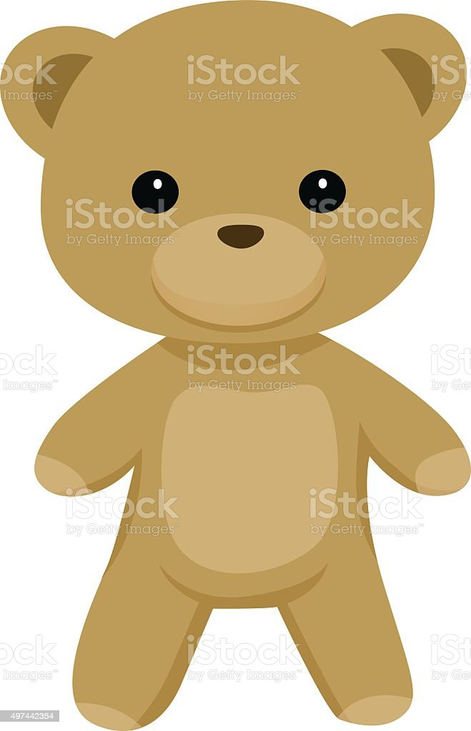 Teddy Bear Standing vector art illustration