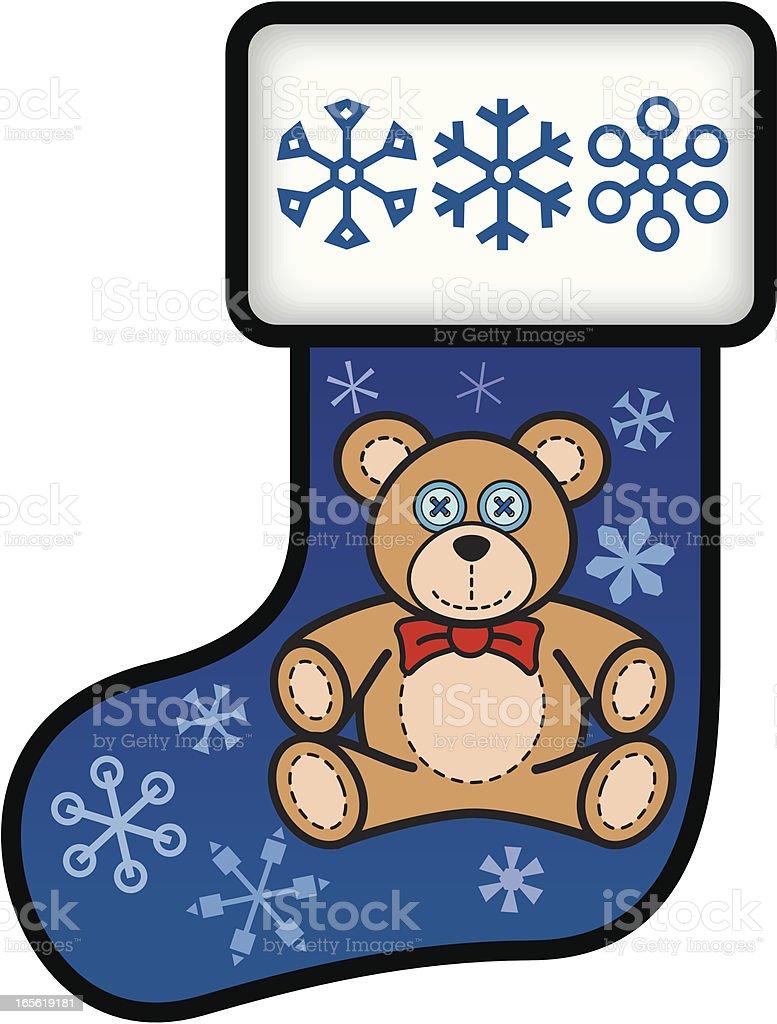 Teddy Bear Stocking vector art illustration